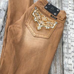 Miss Me Jeans - Darling Miss Me skinny brown jeans! Size 27